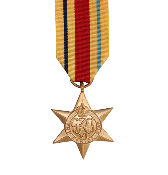 WW2 Africa Star Medal and Ribbon