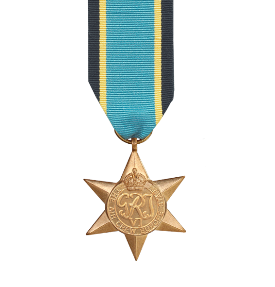 WW2 Air Crew Europe Star Medal and Ribbon