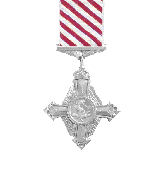 The full size GV Air force cross medal and ribbon