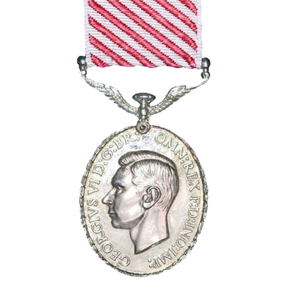 The George VI Air Force Full Size Medal and Ribbon