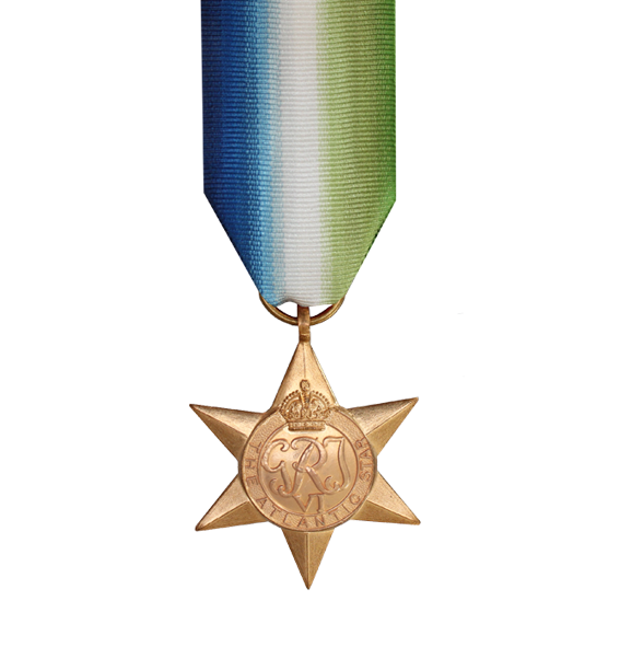 WW2 Atlantic Star Medal and Ribbon