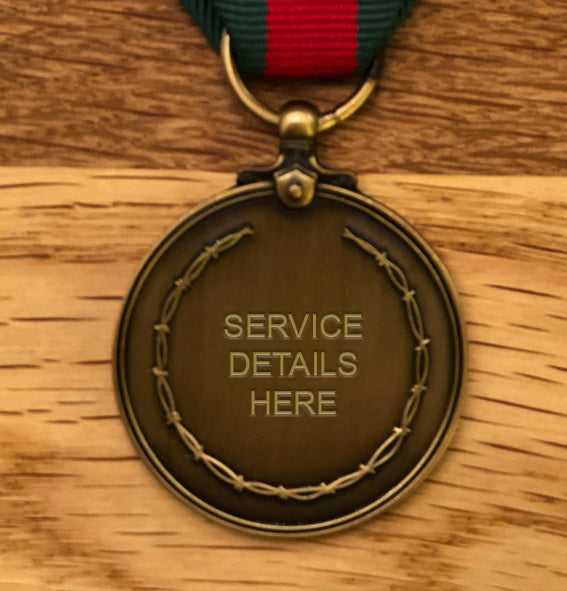 Border Service Commemorative Medal - Miniature