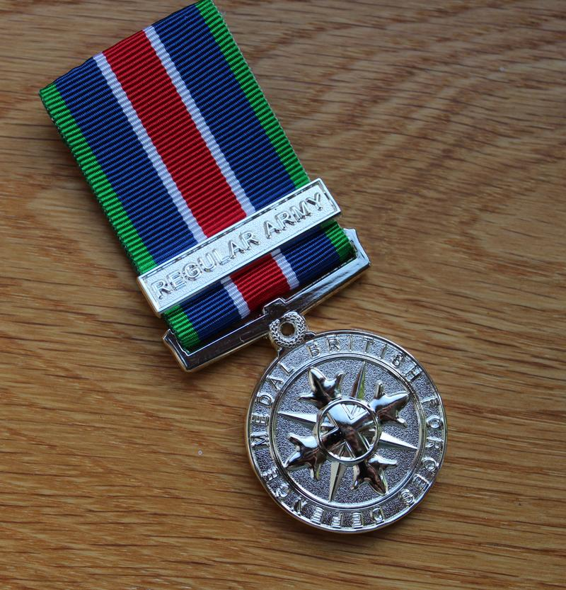 Regular Army British Forces Defence Miniature Medal