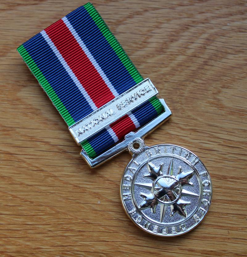 National Service British Forces Defence Miniature Medal