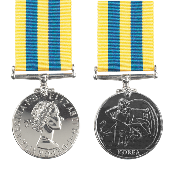 british korea full size medal and ribbon