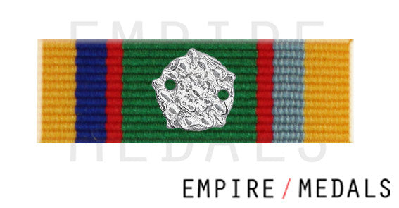 Cadet Forces Medal Ribbon Bar with Gold Rosette