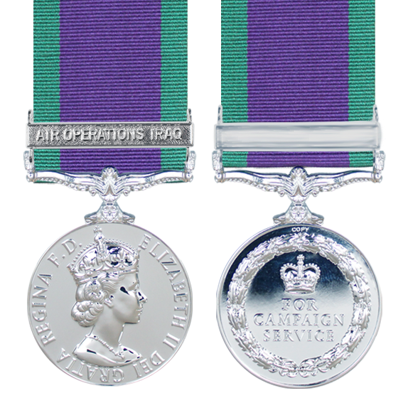 General Service Medal 1962 with Air Operations Iraq Clasp