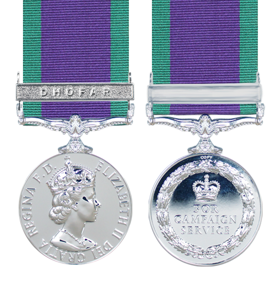 General Service Medal 1962 with Dhofar Clasp