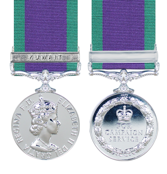 General Service Medal 1962 with Kuwait Clasp