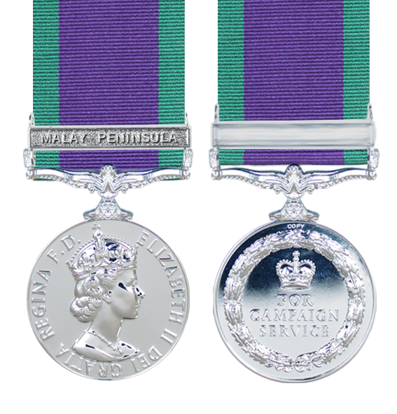 General Service Medal 1962 with Malay Peninsula Clasp