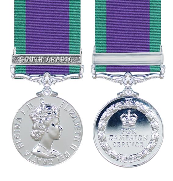 General Service Medal 1962 with South Arabia Clasp