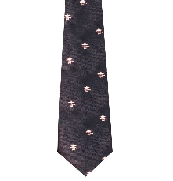 Combined Operations white motif Polyester Tie
