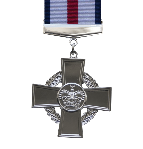 The Conspicuous Gallantry Cross full size Medal with ribbon