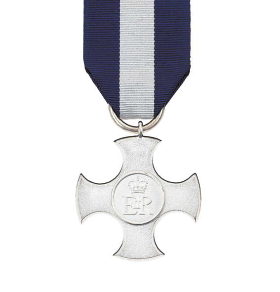 The Distinguished Service Cross E.II.R Full Size Award and Ribbon