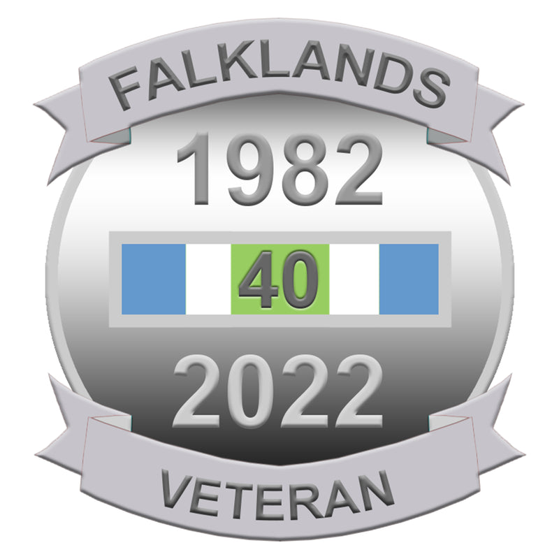Falklands Veteran 40th Anniversary Lapel Pin
