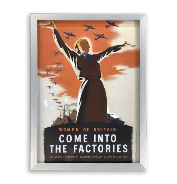 Come In To Our Factories Framed Poster