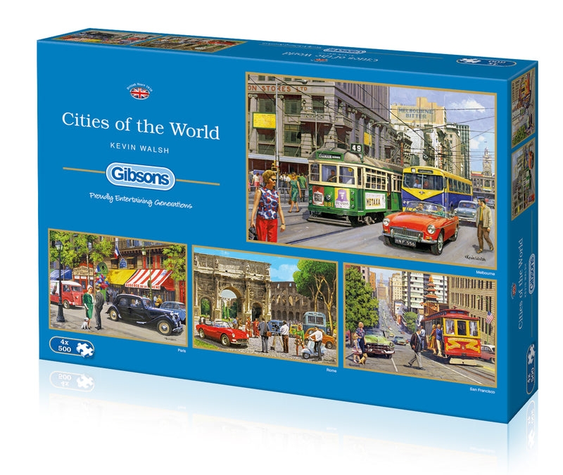Cities of the World 4 x 500pc Jigsaw