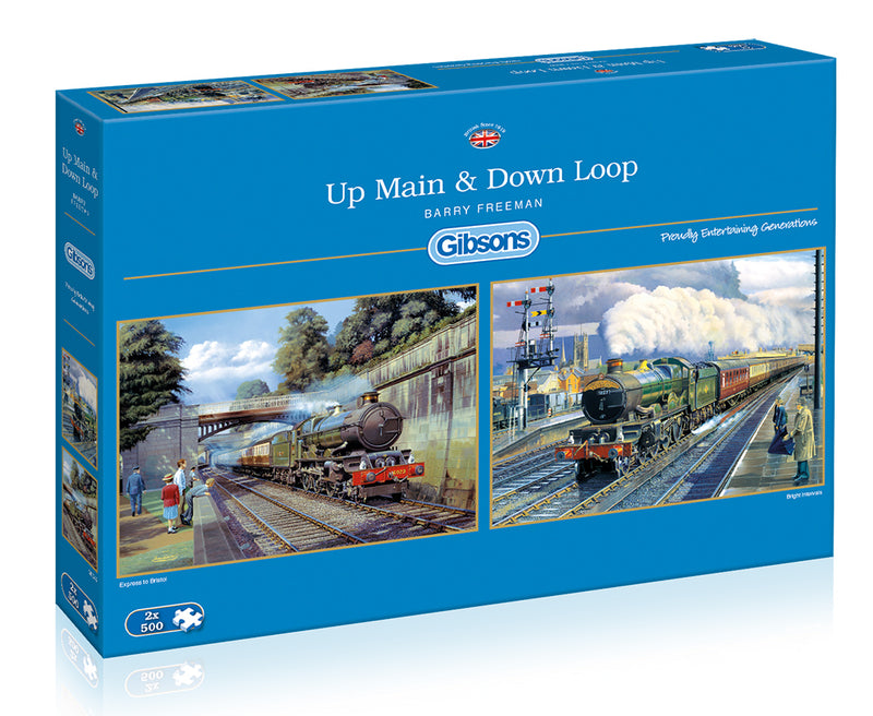 Up Main & Down Loop 2x500 Jigsaw Puzzle