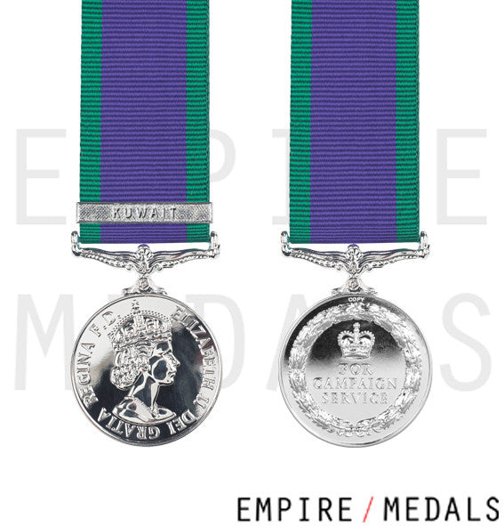 General Service Miniature Medal Kuwait