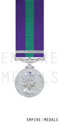 General Service Miniature Medal EIIR Near East