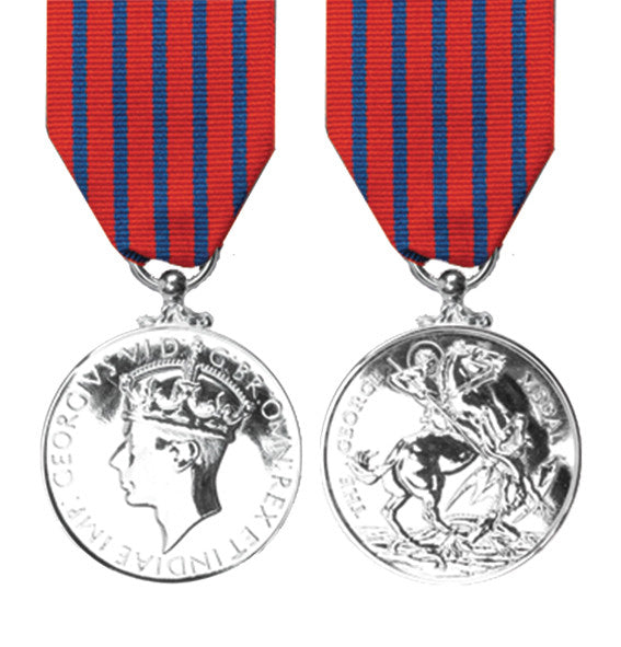 full size george medal with ribbon