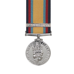 Gulf Medal Miniature With 2nd August Bar