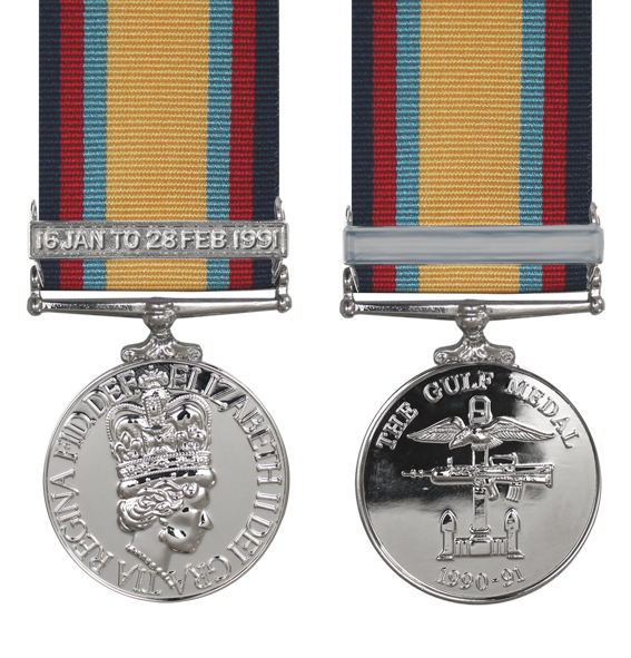 the gulf war medal with a 16th January Bar
