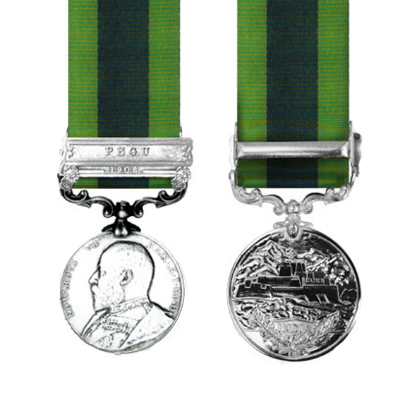 India General Service Medal Miniature 1908-1935