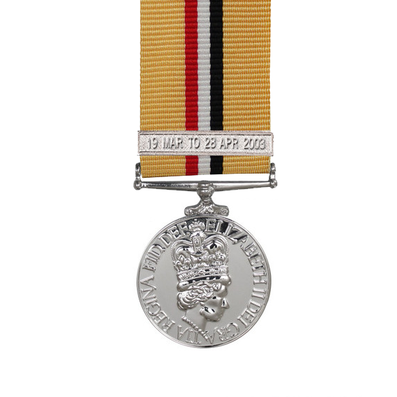 Iraq Miniature Op Telic Medal with 19th March Bar