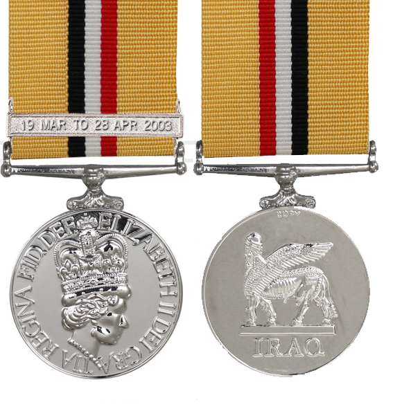 the iraq op telic full size medal with 19th march bar