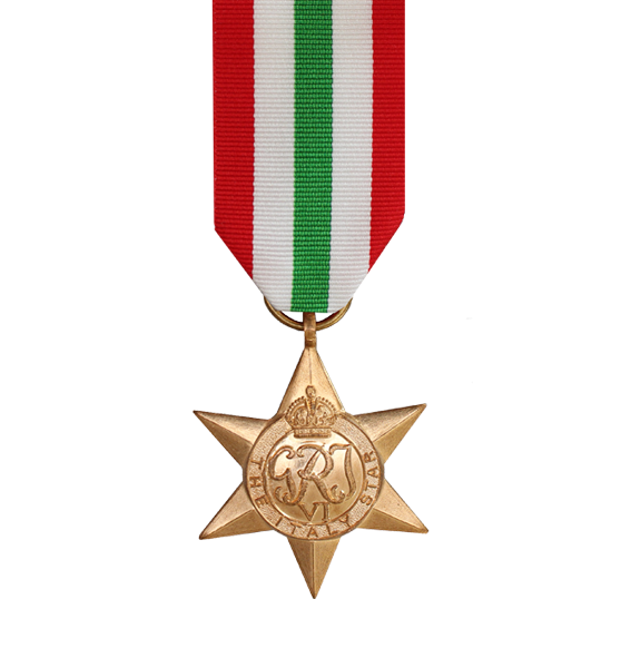 WW2 Italy Star Medal and Ribbon