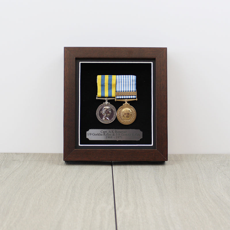 Medal Display Case for 2 Mounted Medals