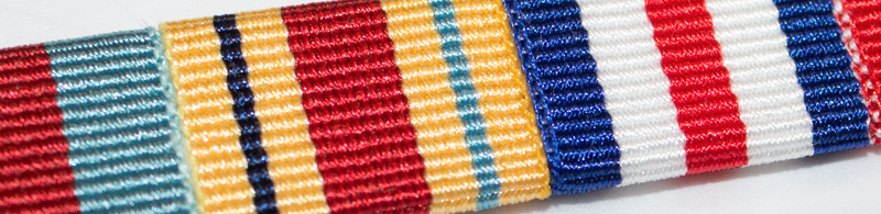 Miniature Medal Ribbon Bar - 9 Ribbons