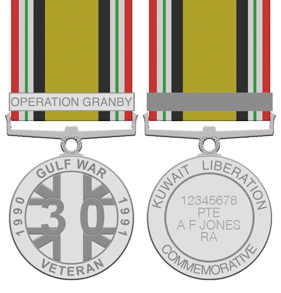 The Gulf War 30th Anniversary Medal