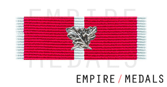 BEM Military Ribbon Brooch Bar with laurel leaf