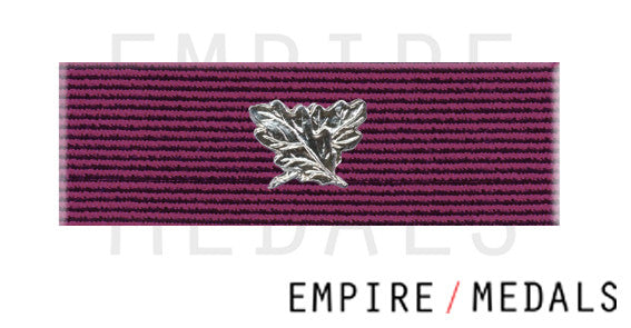 Obe Military first type Ribbon Brooch Bar with crossed leaves