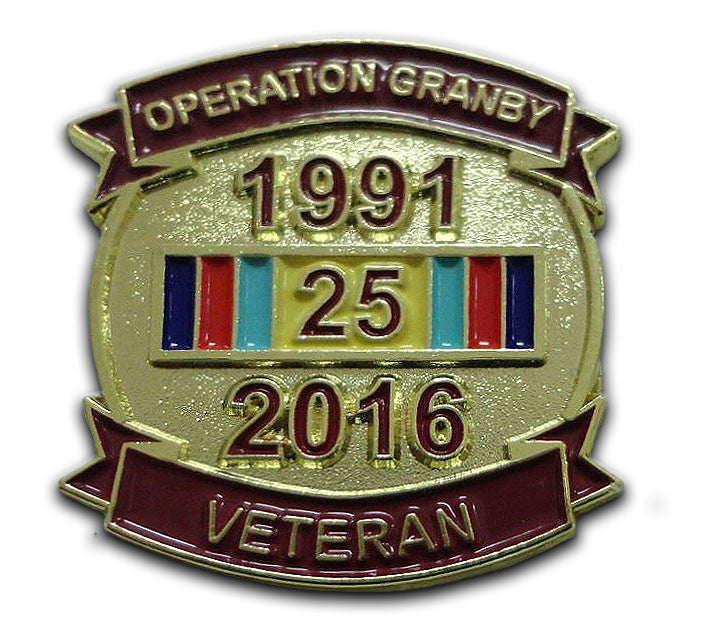 Operation Granby Anniversary Lapel Pin