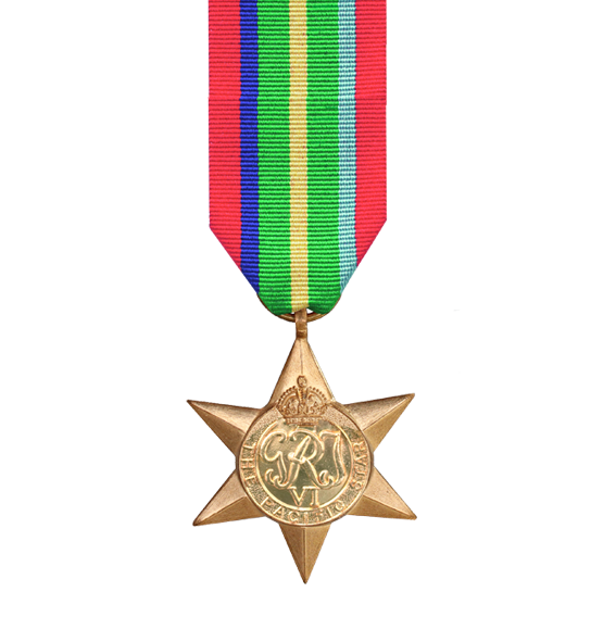 WW2 Pacific Star Medal and Ribbon