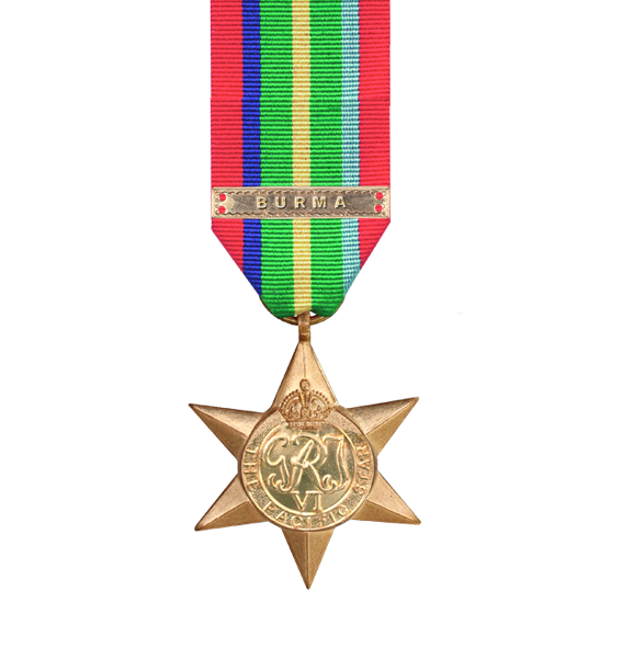 Pacific Star from WW2 with Burma Clasp