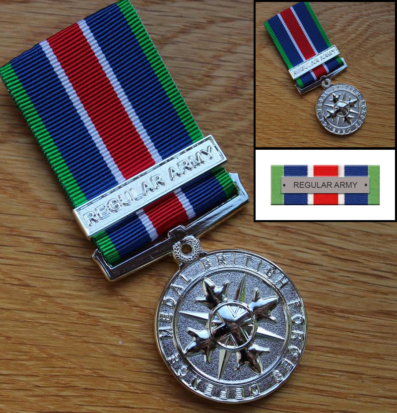 Regular Army British Forces Defence Medal Set