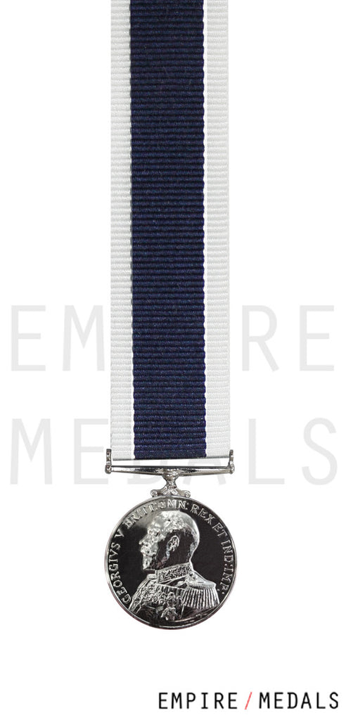 Royal Navy Long Service Miniature Medal GV Admirals Uniform