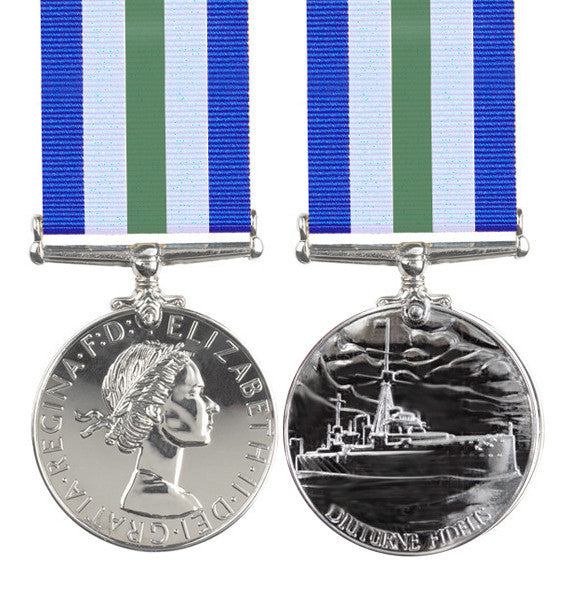 Royal Naval Reserve Long Service Medal EIIR Full Size