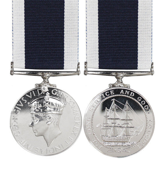 Royal Navy Long Service Full Size Medal GVI