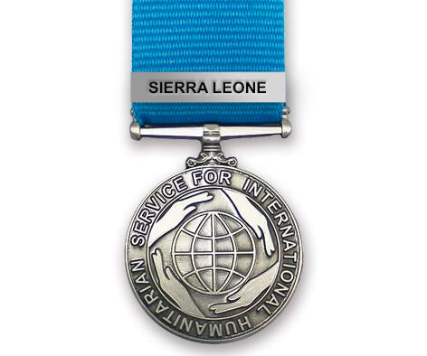 The Commemorative International Humanitarian Service Medal