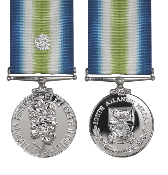 the south atlantic medal with rosette