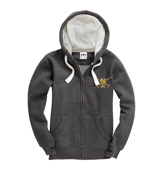 Charcoal Embroidered Military Crest Super Hoodie