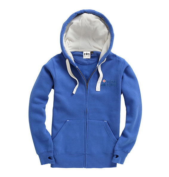 Royal Blue Embroidered Military Emblem Super Hoodie
