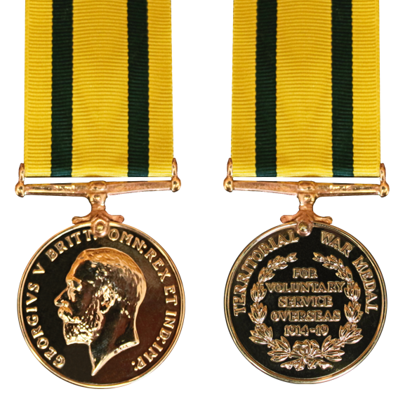 The Territorial Force War Medal and Ribbon