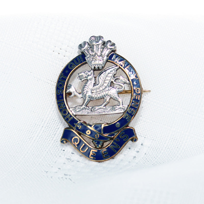 The Queens Regiment Sweetheart Brooch