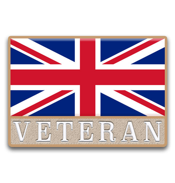 Union Flag Veteran Lapel Badge